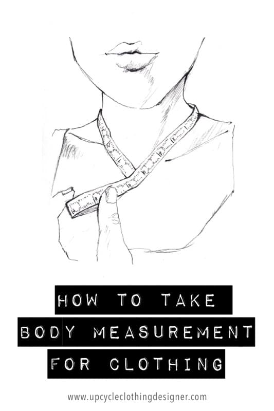How to take body measurement for clothing