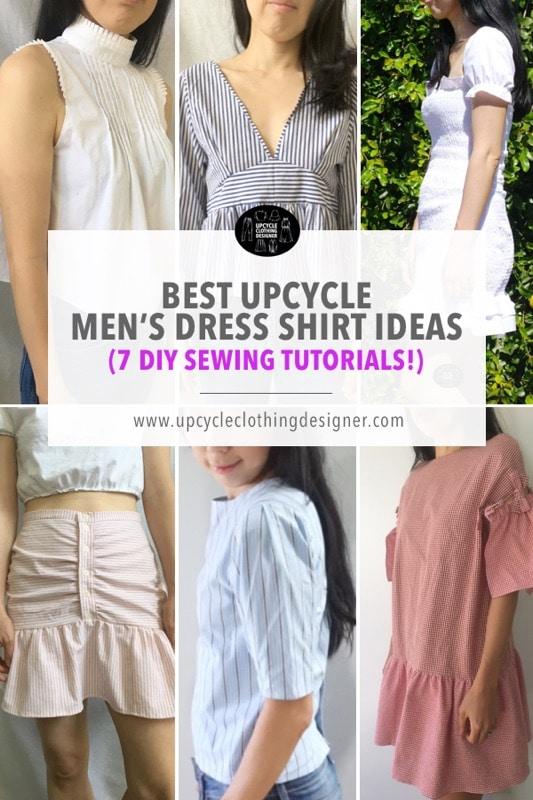 Men's dress shirt upcycle ideas