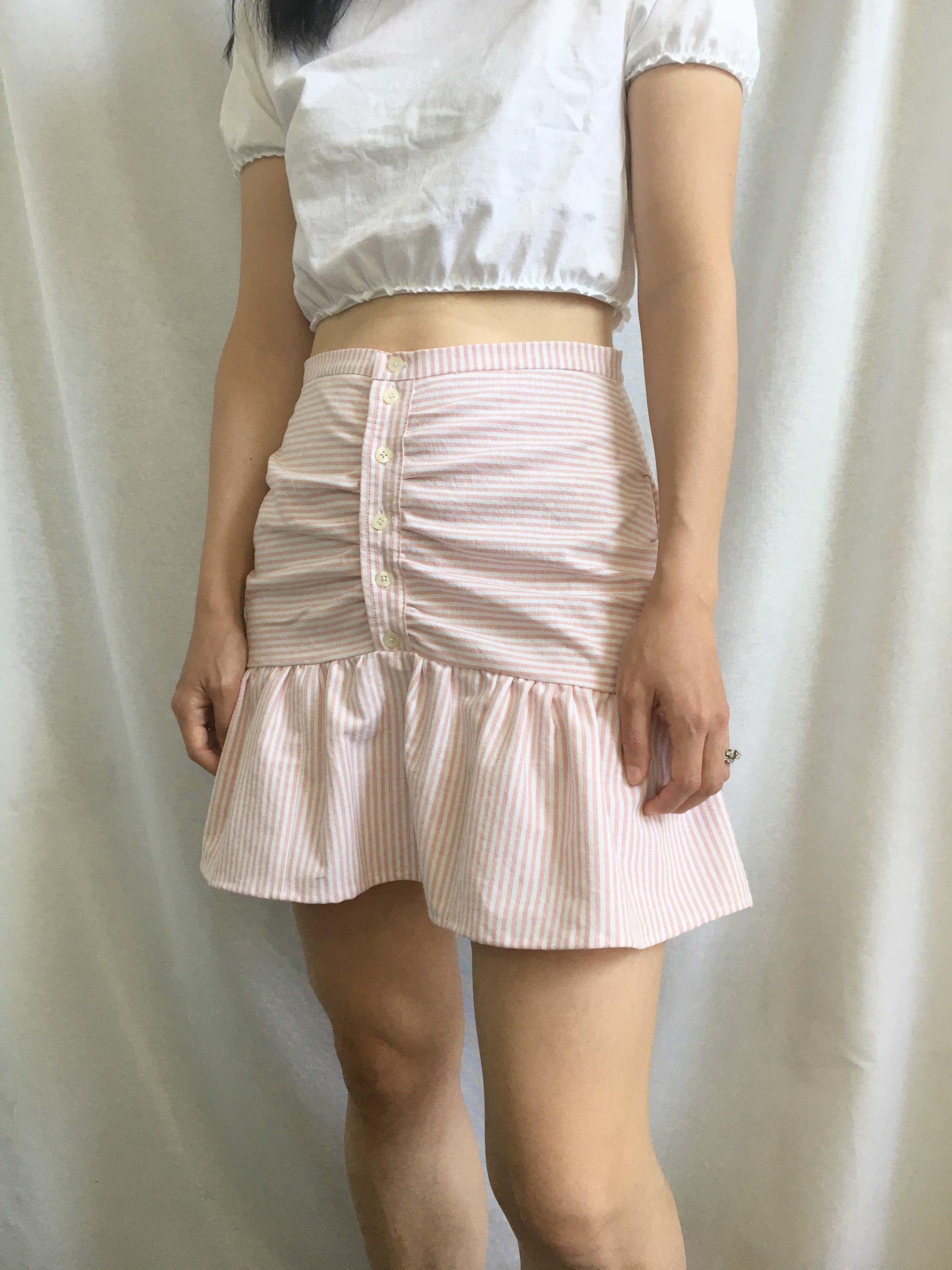 Mini Skirt From Men's Shirt