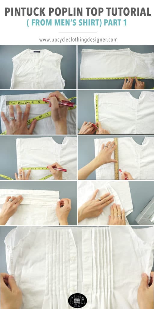 How to make pintucks on clothes