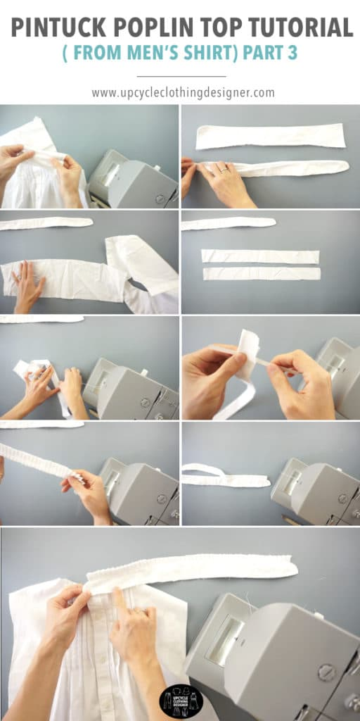 How to make the knife pleat neckband detail