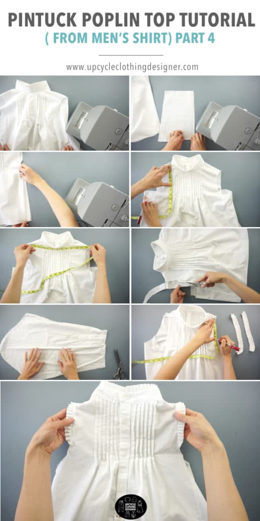 How to make the knife pleat armhole detail