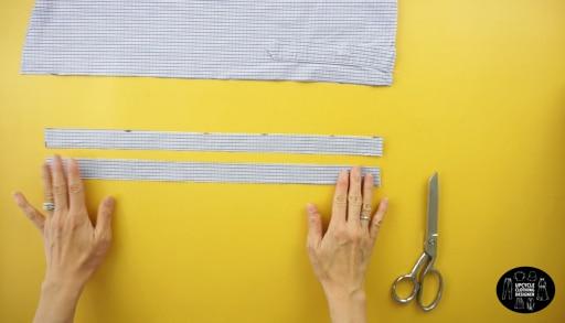 Make two shoulder straps