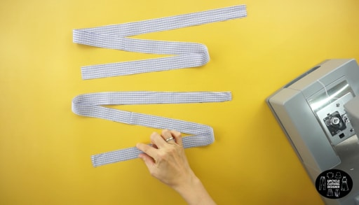 """Make 2"""" wide pieces for the ruffled straps."""