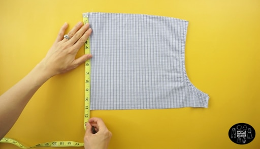 "Measure a 9"" x 9"" square to make the front top bodice."