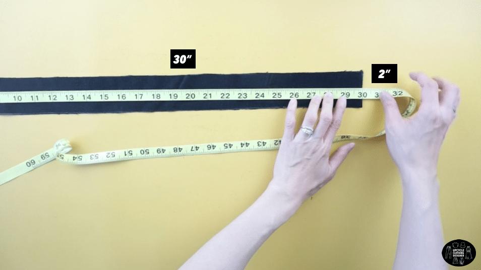 Shoulder strap piece measurements