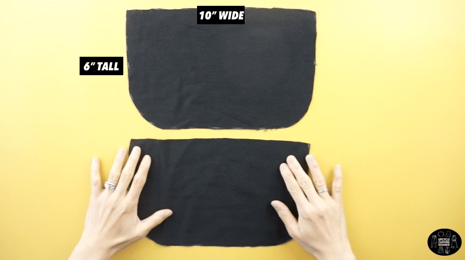 Two side pieces of the DIY purse pattern