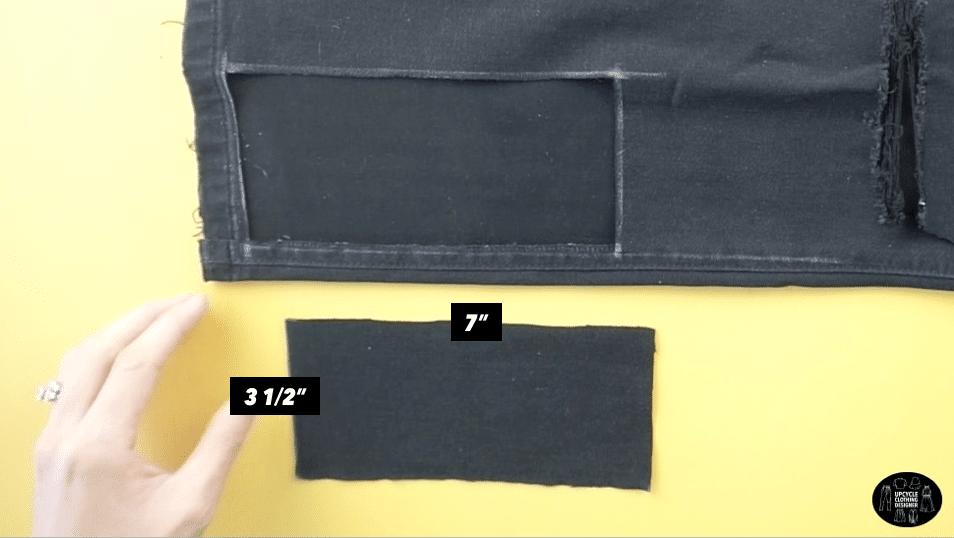 Bottom piece of the DIY purse pattern