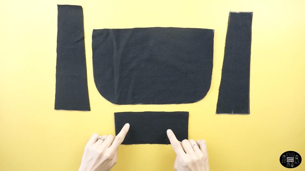 DIY purse pattern pieces