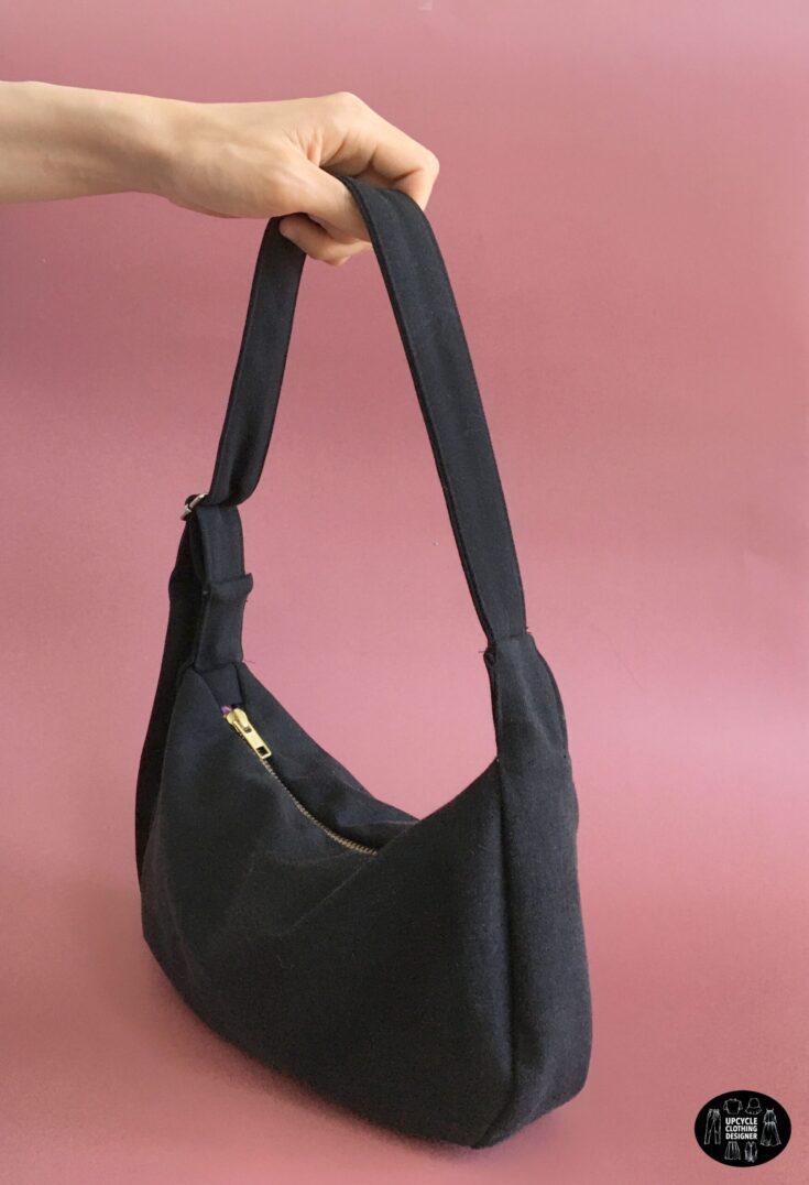 DIY crescent purse form old jeans