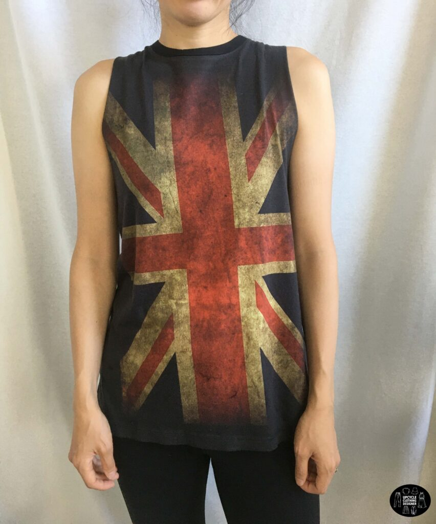 Front view of the diy crossover back tank from t-shirt