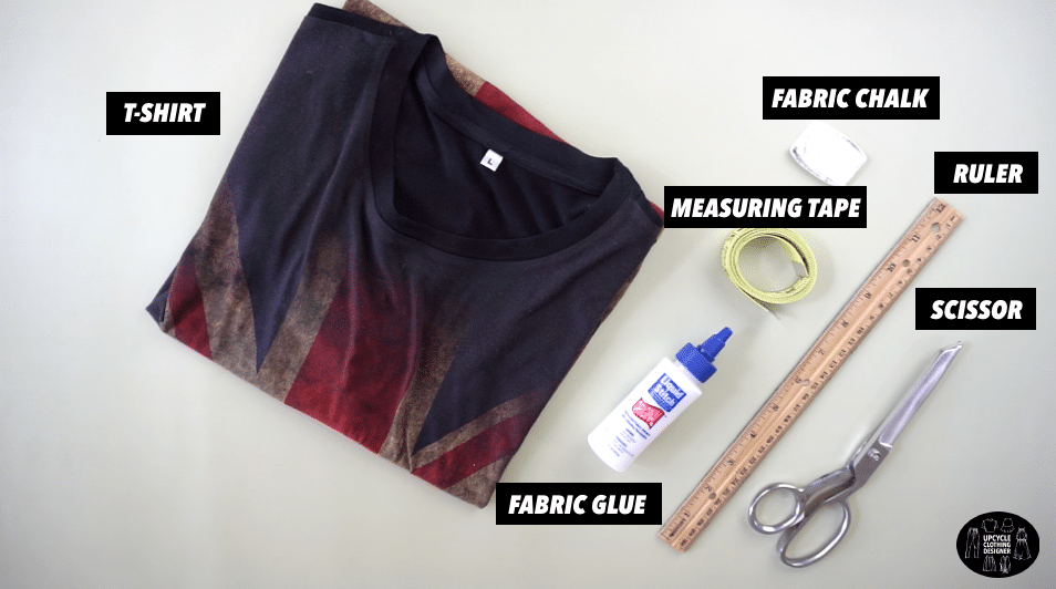 Materials to make a diy crossover back tank from t-shirt