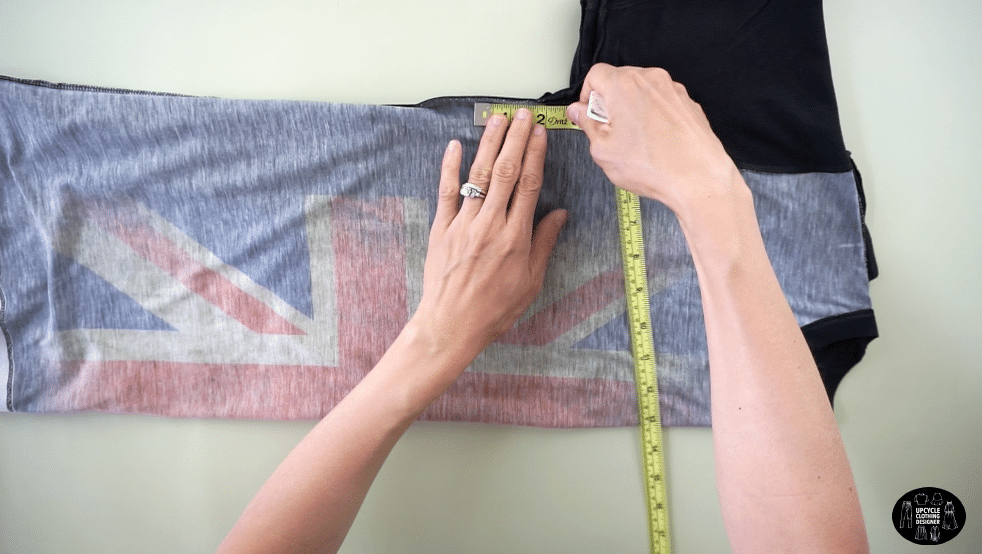 "Measure 2"" from the under armhole opening along the side seam."