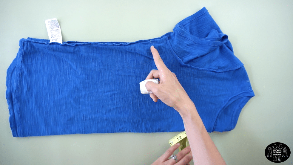 """Measure 2 """" from the under armhole on the side seam."""