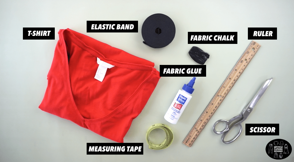 Materials to make a diy strap tank top from t-shirt