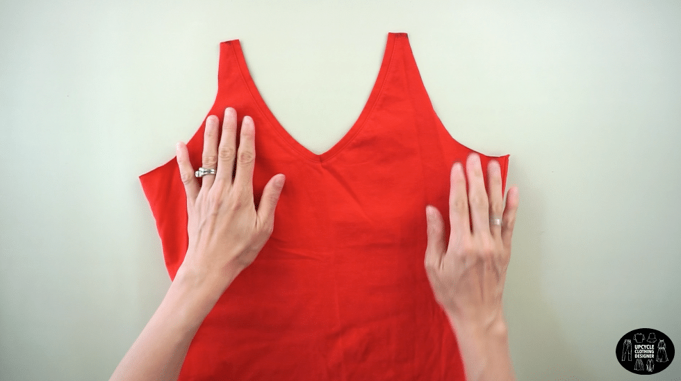 Copy to new neckline onto the other side of the front bodice