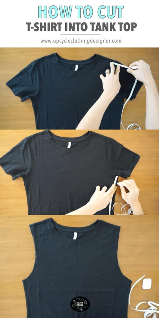 How to cut a t-shirt into a tank top