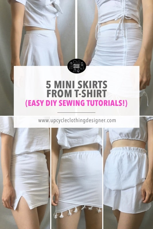 How to make a mini skirt from a t-shirt