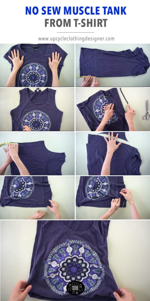 How to make a no sew muscle tank from a tee