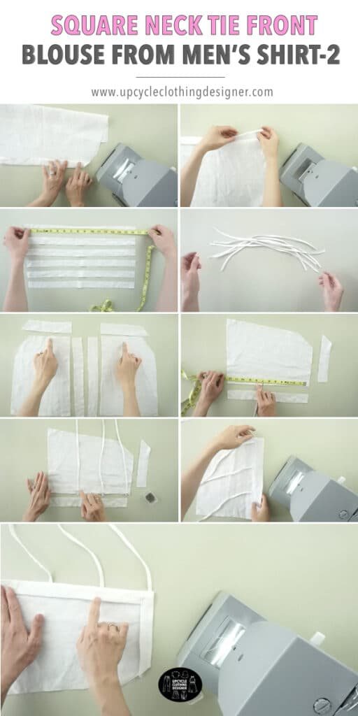 How to make a tie front blouse