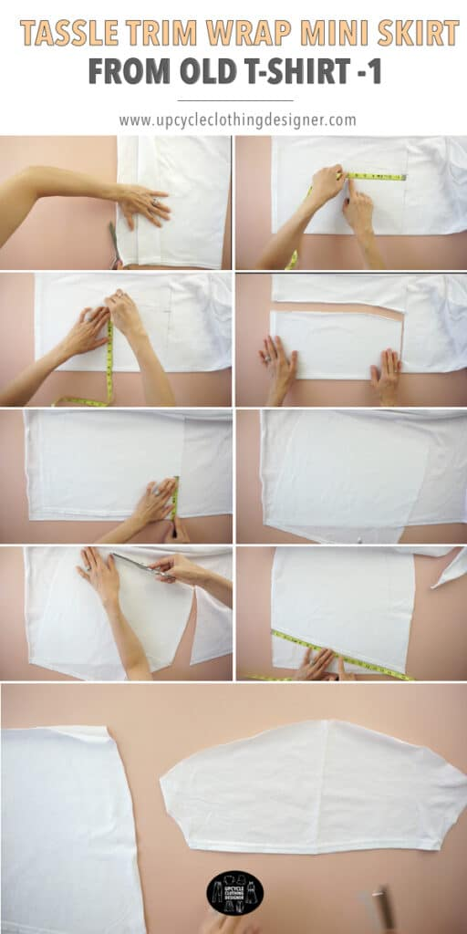 How to make a wrap mini skirt from a t-shirt