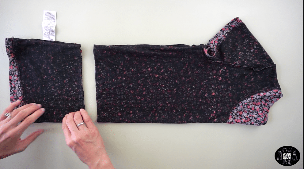 Cut across the tee to make a crop top.
