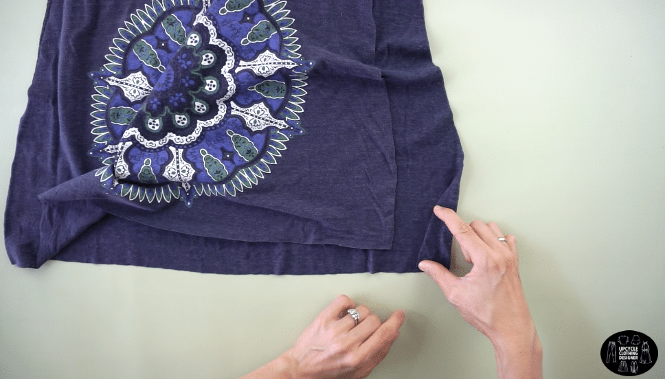 Twist the bottom of both side seams.