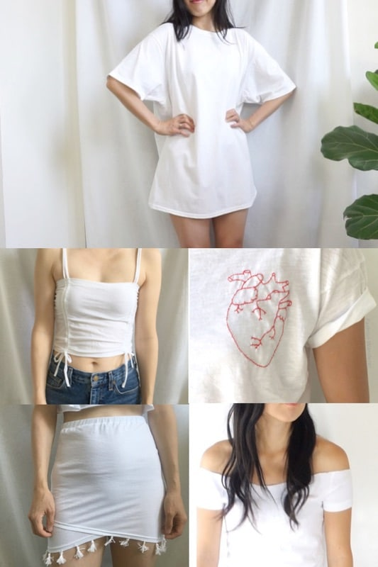 Recycled t-shirts into new clothes