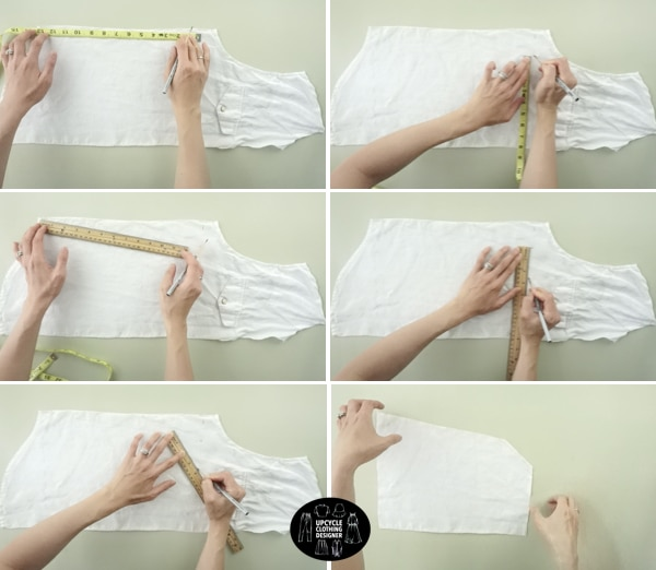 How to make the Materials to make the square neck tie front blouse pattern