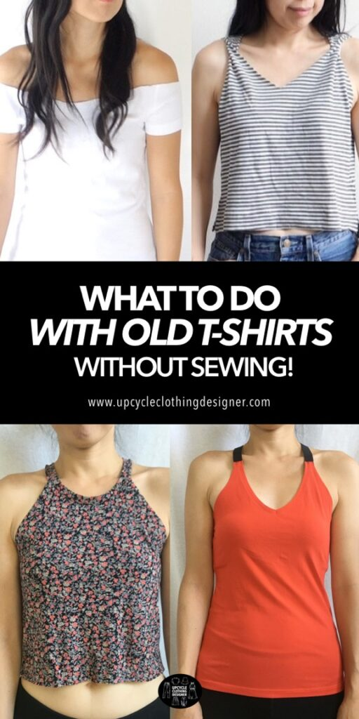 Transform old t-shirts without sewing