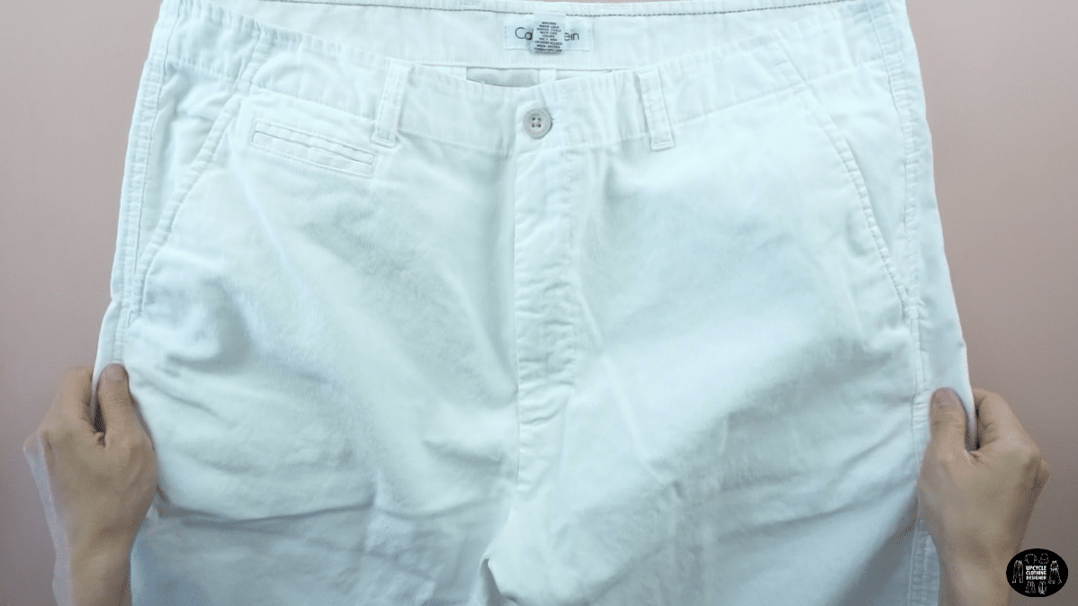 Old white denim jeans