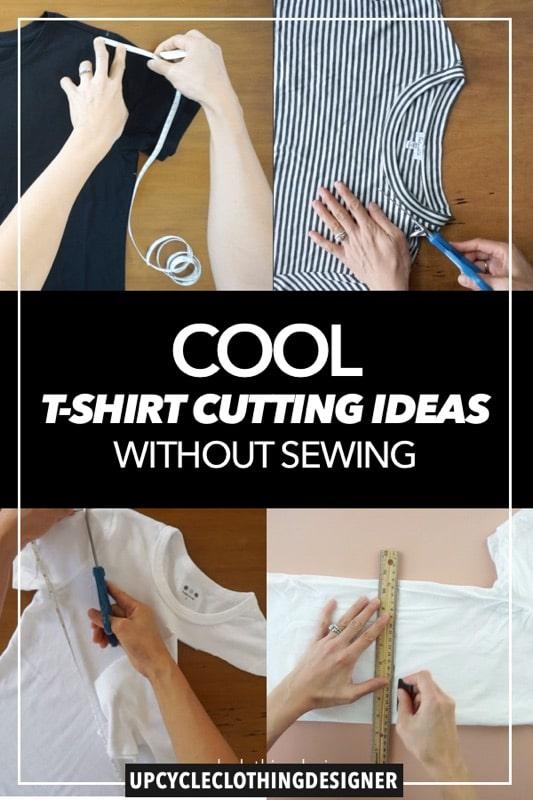 Cool t-shirt cutting ideas no sew