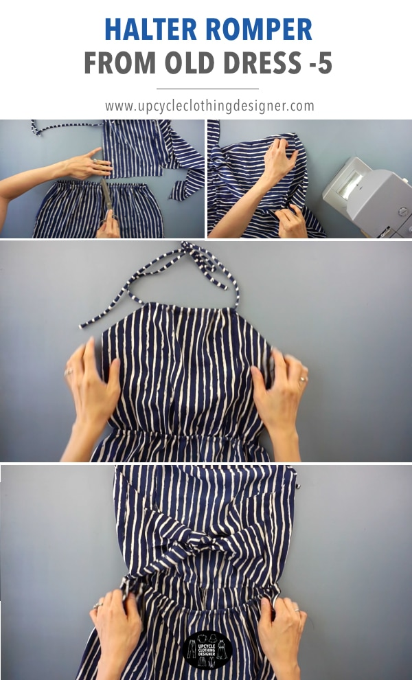 How to make a diy romper from a dress.