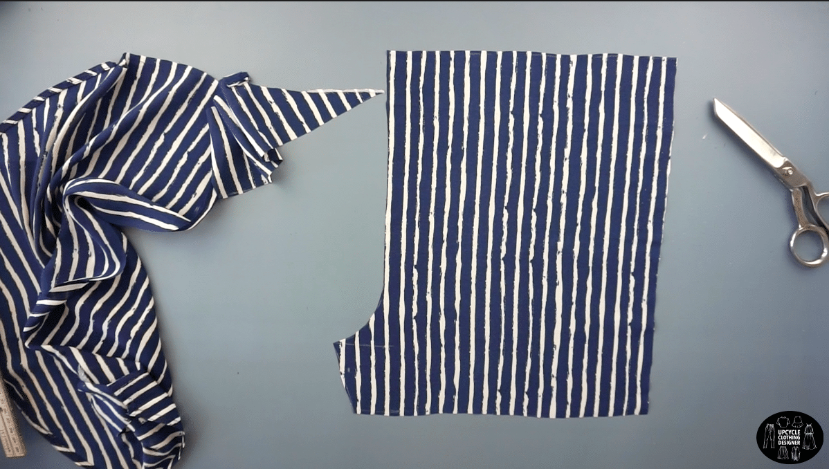 Cut out the front shorts pattern piece