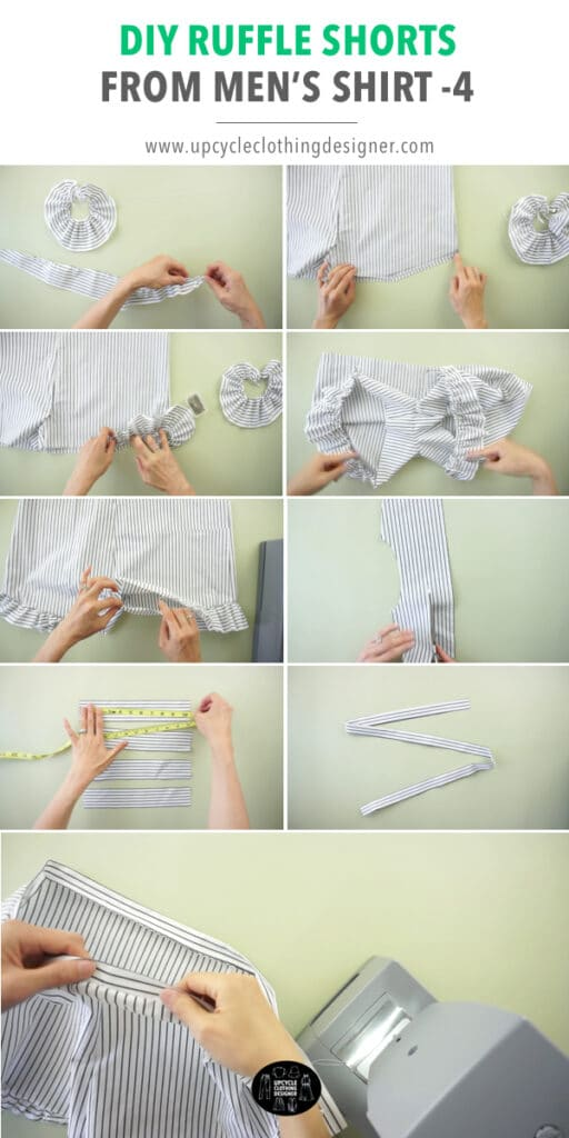 How to make waistband for DIY shorts.