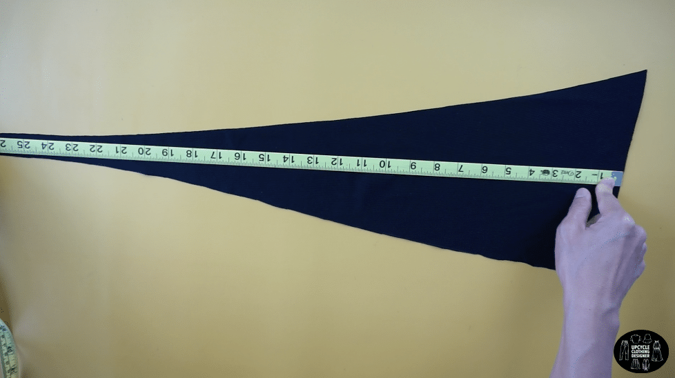 Measure the height and width of the triangular piece to fit your body.