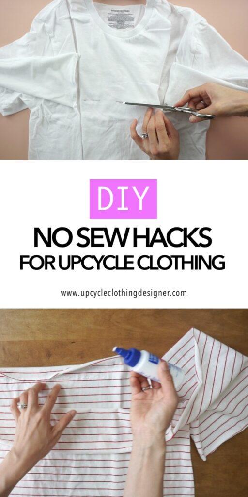no sew clothing hacks