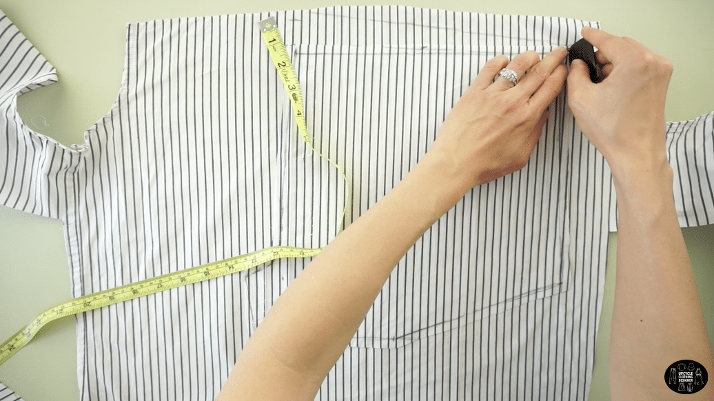 Draw a new backside waistline.