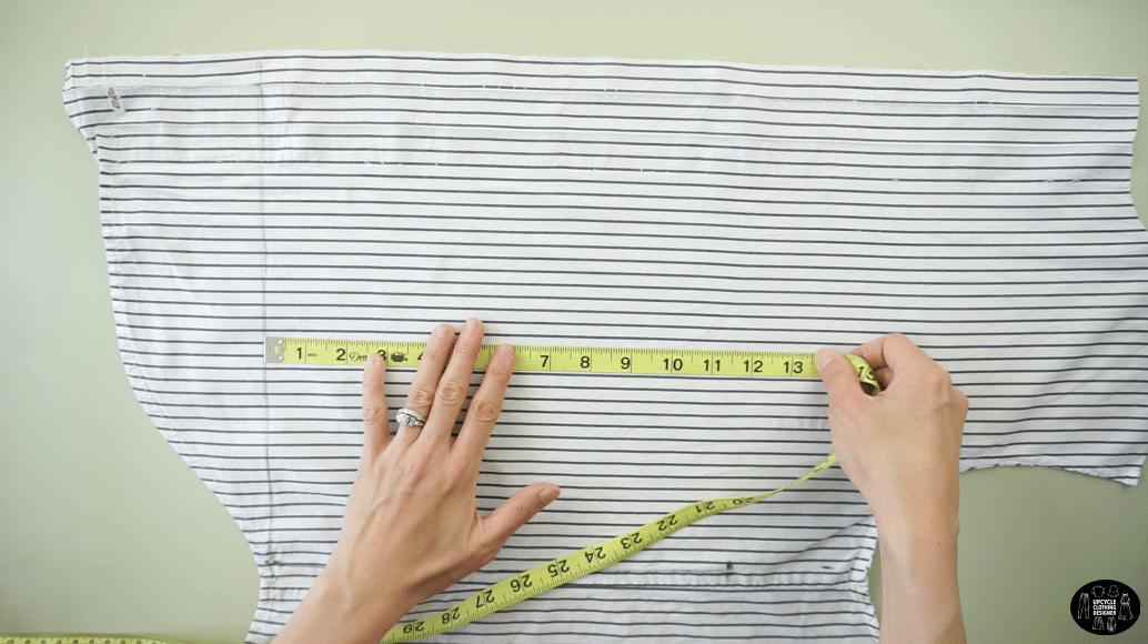 "Square off the bottom and measure 11½"" up from the bottom edge to make the waistline."