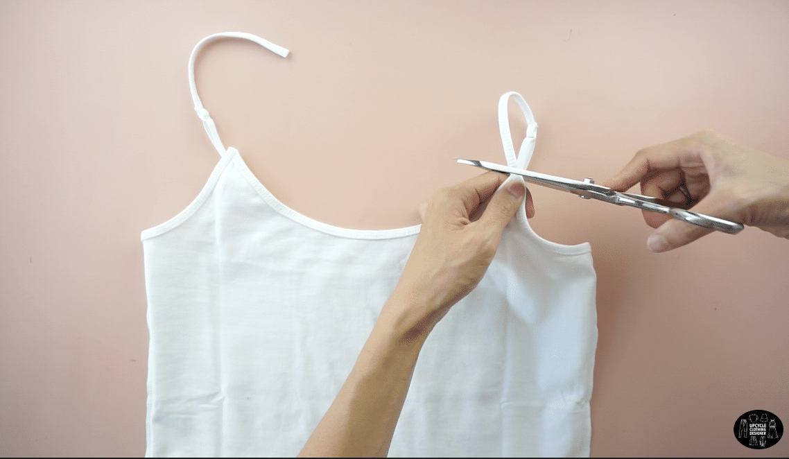 Cut off the original shoulder straps.