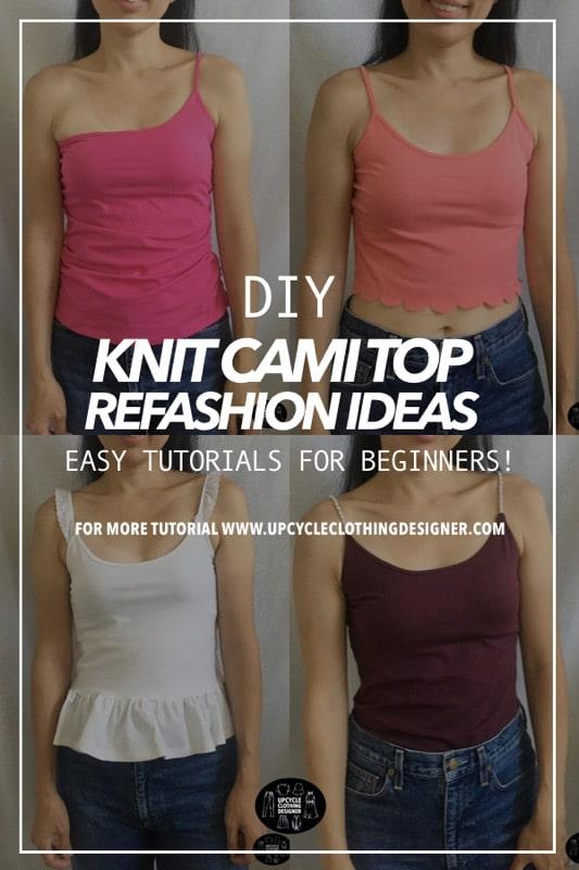 Best knit camisole tops refashion ideas