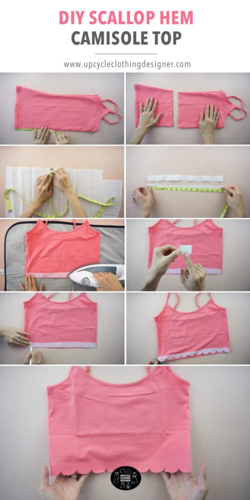 How to make a scallop hem camisole top.