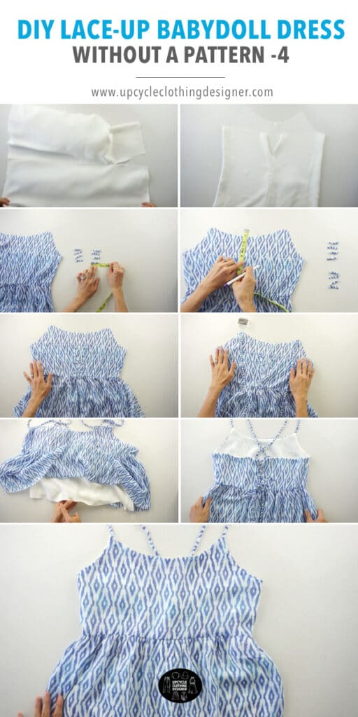 How to make a tiered lace up babydoll dress from scratch.