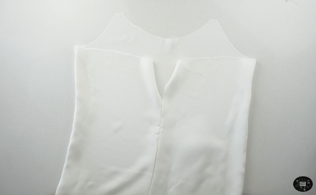 To assemble the lining, sew along the side seams to attach the front and back lining pieces with the right sides facing together.