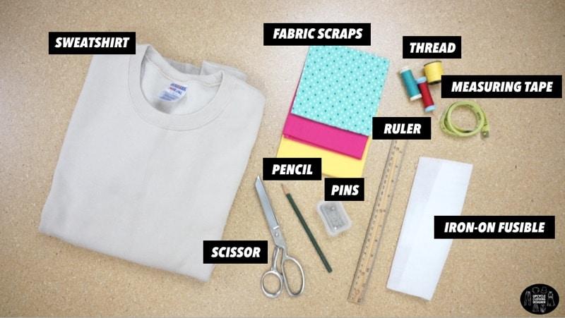Materials to make a POW applique design