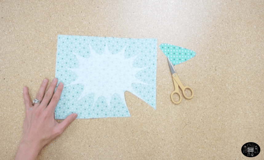 Iron the fusible backing onto fabric scraps.
