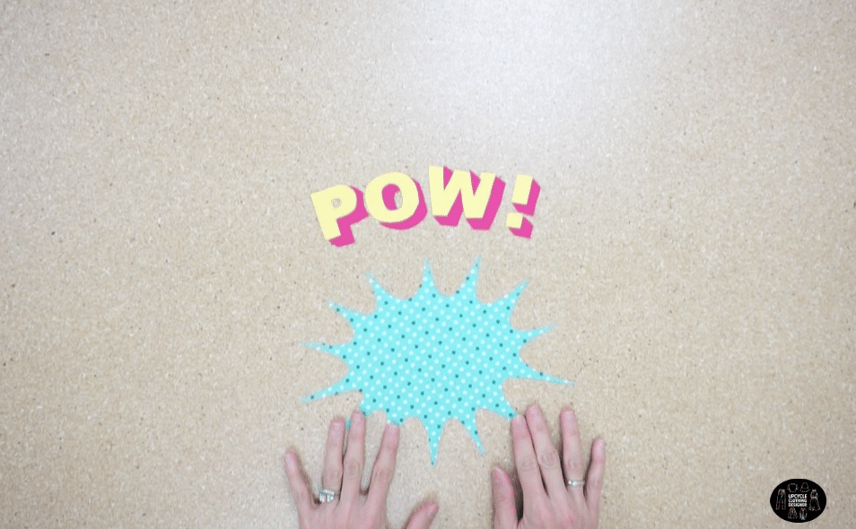 Cut out the POW lettering