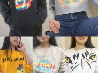 Cool diy applique patchwork graphic sweatshirts