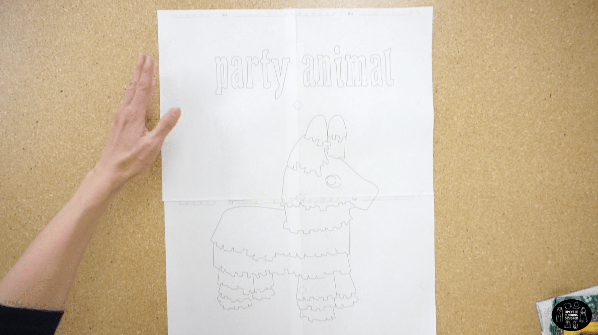 Party animal applique drawing