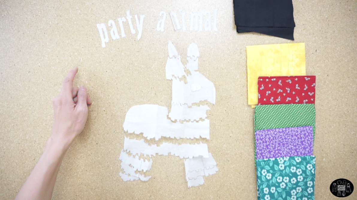 Match the cut pieces to your fabric choices